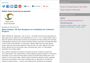 Cataract-Surgeons-in-West-Chester-Discuss-Cataract-Surgery-Candidacy
