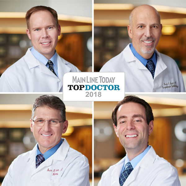 Main Line Today Top Doctors- John DeStafeno, Bruce Saran, Bruce Stark, and Michael Ward