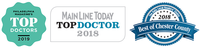 Top Doctor- Philadelphia magazine, Main Line Today, Daily Local Readers' Choice